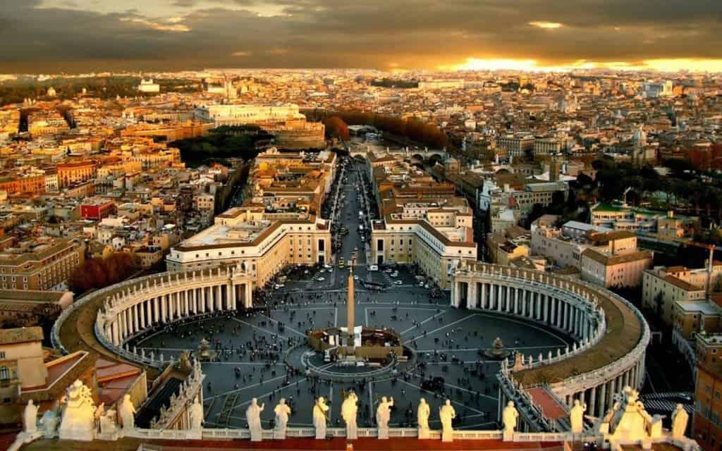 Foto: Roma vista dalla cupola della basilica di San Pietro