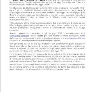 PUGLIA, PROPOSTA BORRACCINO DEFINITIVAMENTE BOCCIATA