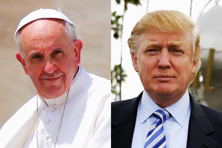 Foto: Papa Francesco e presidente Donald Trump