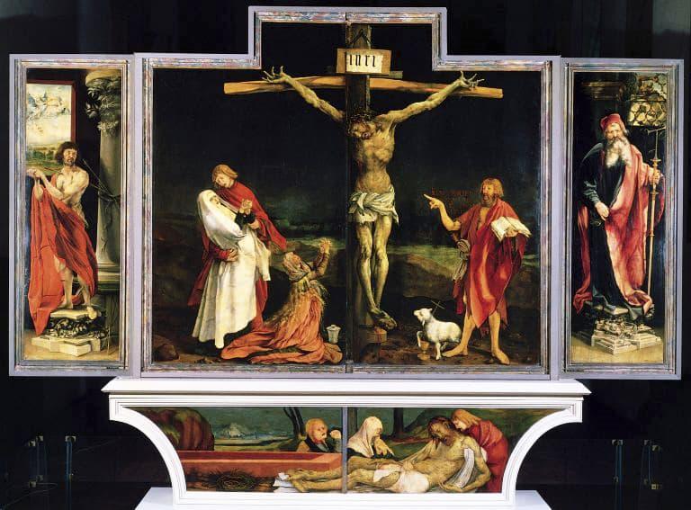 foto: Crocifissione dell'altare di Isenheim di Matthias Grünewald