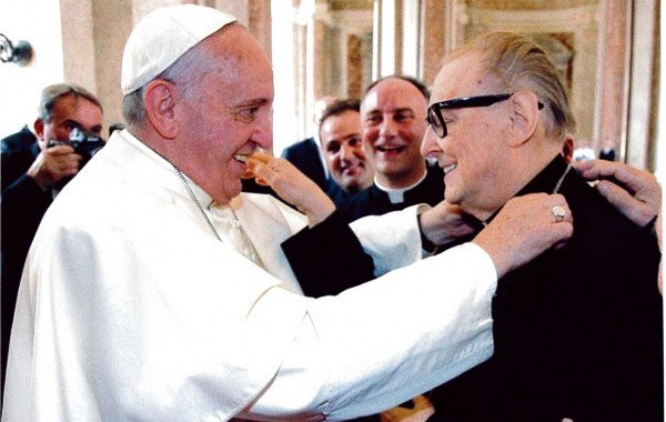 Foto: mons. Raffaele Nogaro e Papa Francesco