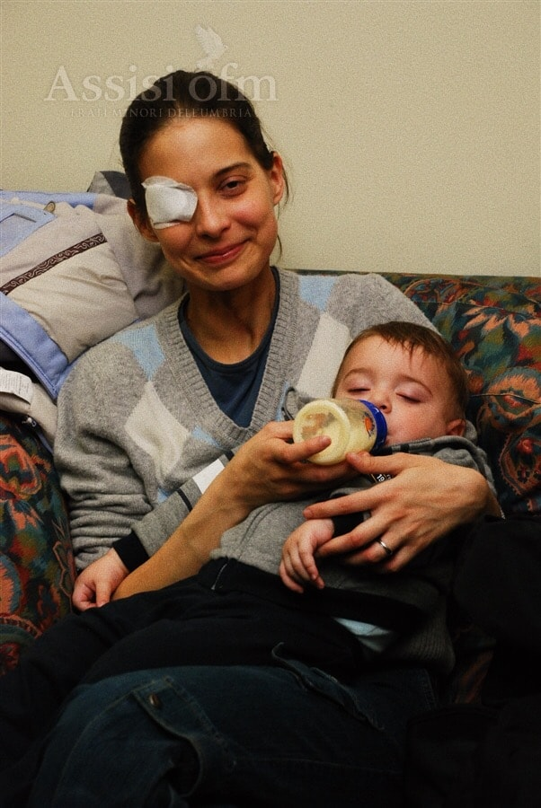 Foto: Chiara Corbello Petrillo con il piccolo Francesco