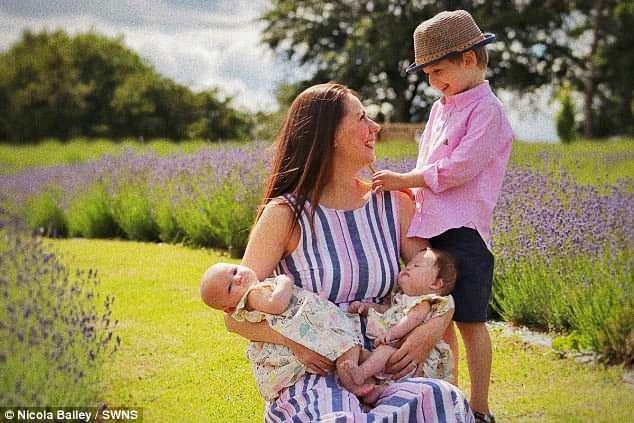Foto: Nicola Balley con i suoi figli