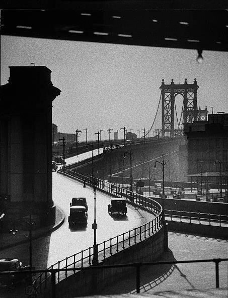 Foto: Andreas Feininger. Manhattan Bridge. 1950