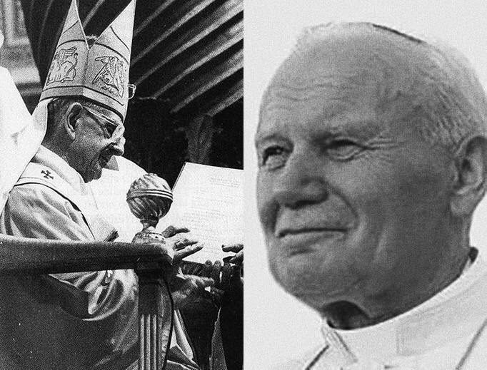 Foto: Paolo VI è Giovanni Paolo II