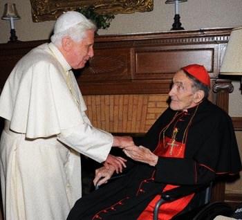 Foto: papa Benedetto XVI e card. Avery Robert Dulles s.j.