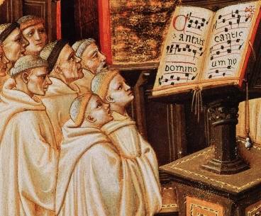 Foto: monaco che cantano il canto gregoriano