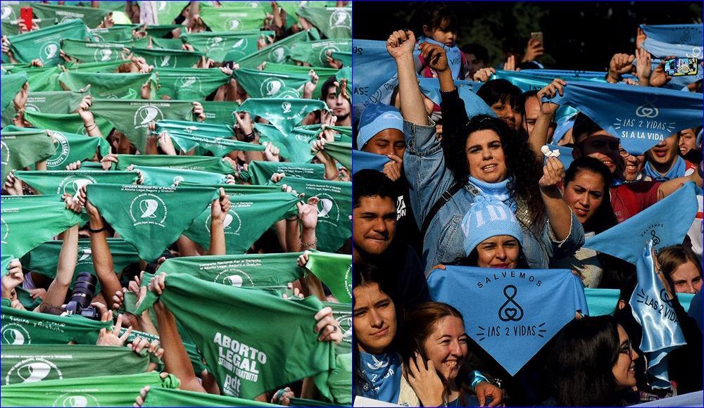Foto: Argentina, manifestazione popolare pro e contro legge sull'a