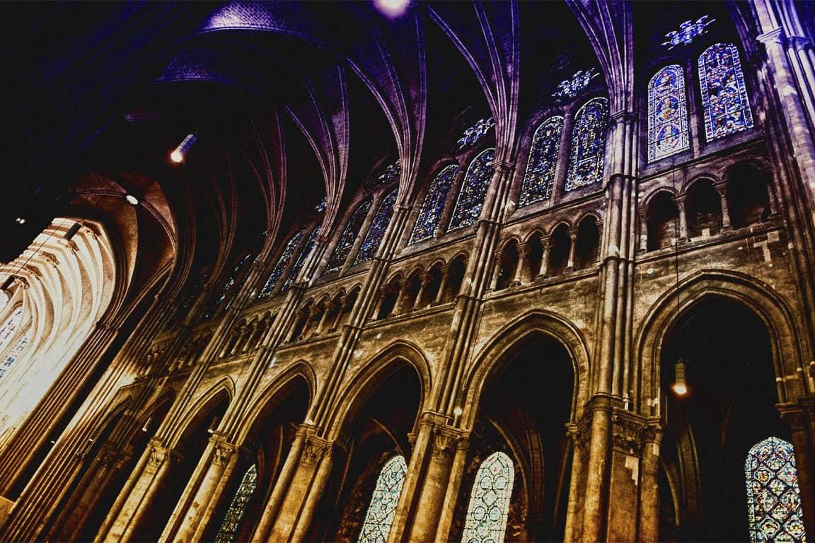 Foto: interno della cattedrale di Chartres