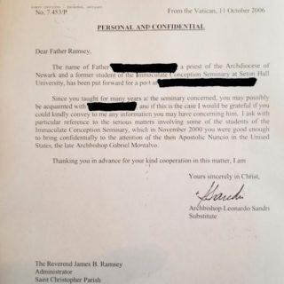 Lettera conferma che i funzionari vaticani erano a conoscenza delle accuse a McCarrick già nel 2000.