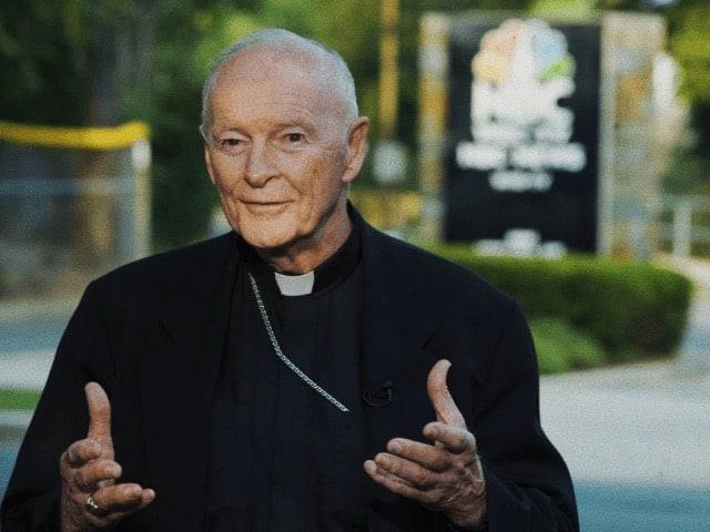 Foto: arcivescovo Theodore McCarrick (Patrick D. McDermott/UPI)