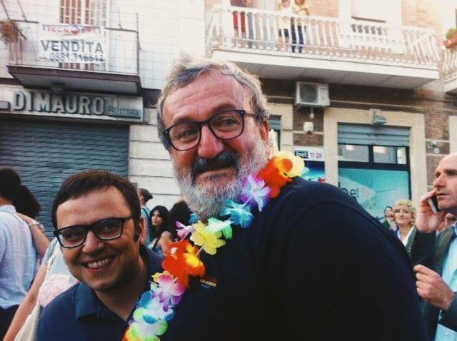 Foto: Michele Emiliano alla sfilata del gay pride