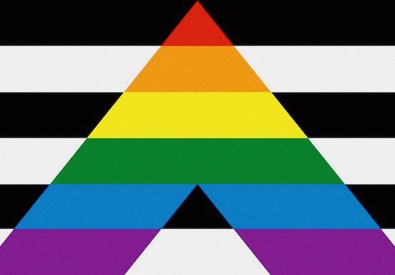 LGBT 'Ally' flag (Yaroslav Melnik/Shutterstock) via The Amarican Conservative