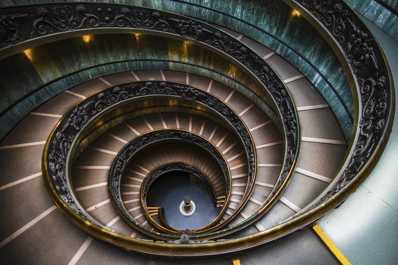 Scala di Bramante - Musei Vaticani (foto di Andrea Iorio)