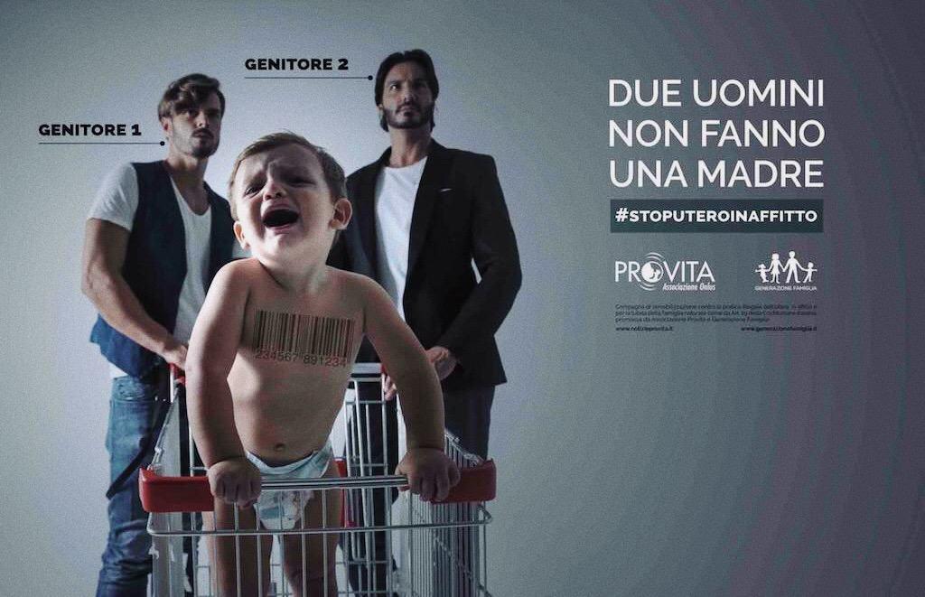 Foto: manifesto ideato da Notizie Pro Vita e Generazione Famiglia