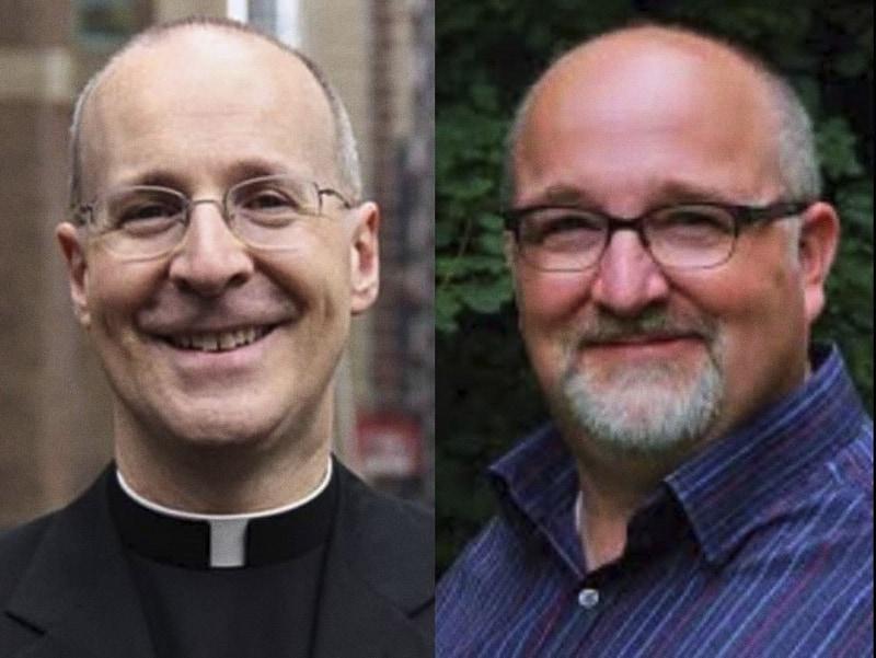 foto: Padre J. Martin, S.J., (a sinistra) e Daniel Mattson (a destra)