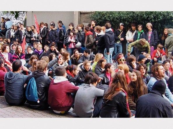 Foto: manifestazione in una università