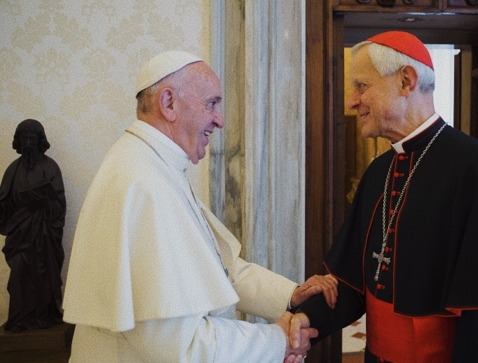 Il cardinale Wuerl incontra Papa Francesco nell'ottobre 2017.  (Vatican Media/National Catholic Register)