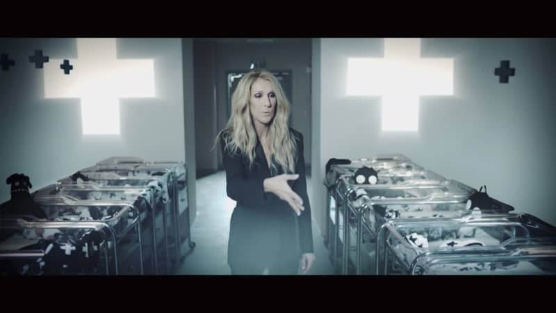 screenshot del video di Céline Dion