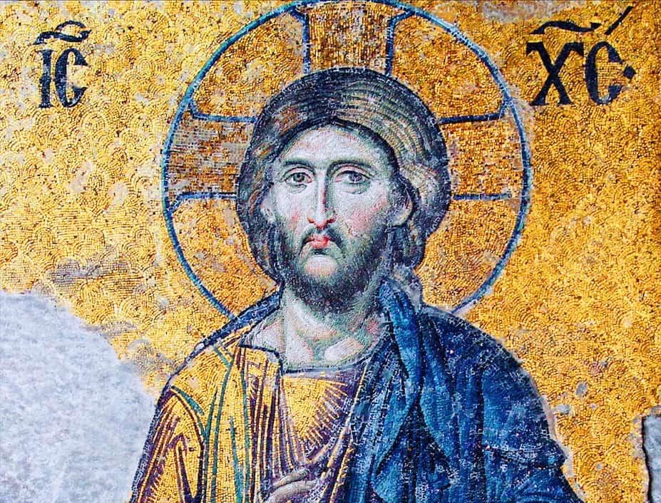 Foto: mosaico del Cristo Pantocratore, XI secolo, cupola, Santa Sofia, Istanbul