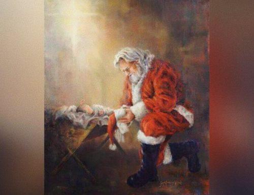 Facebook sblocca l'immagine di Santa Claus inginocchiato davanti a Gesù