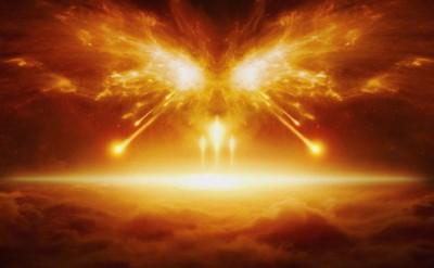 Rappresentazione del fuoco che cade dal cielo