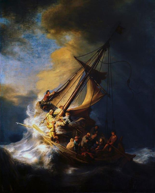 Tempesta sul mare di Galilea di Rembrandt (1633)