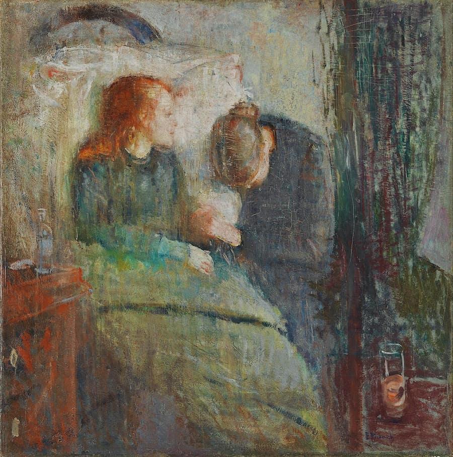 """La fanciulla malata"", olio su tela, di Edvard Munch (1885-1886)"