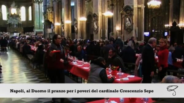 pranzo di Natale 2018 nel duomo di Napoli