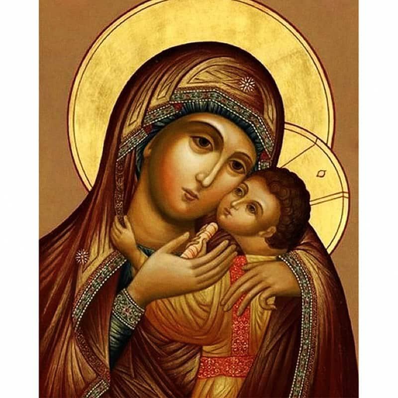 Urijk Frameless Pittura A Olio Vergine Maria Gesù