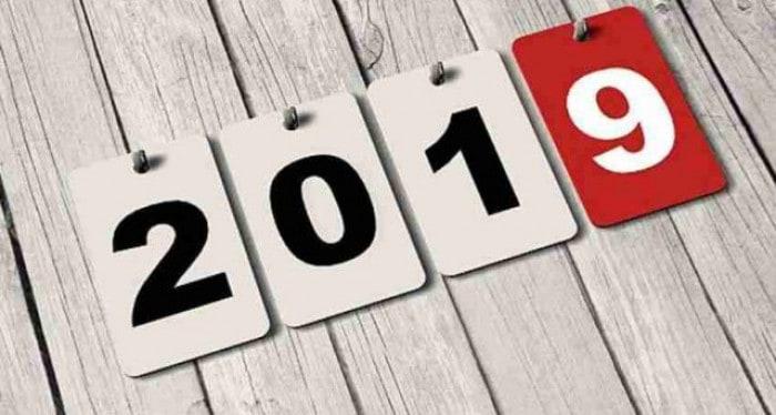 l'anno 2019