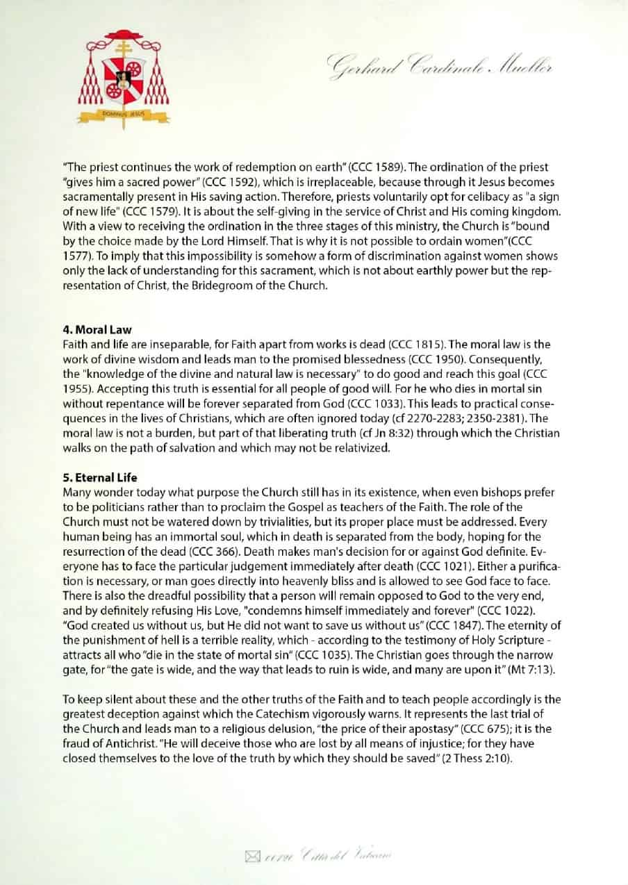 Manifesto sulla fede del cardinale Gerhard Müller (foglio n.3)