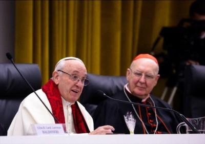 Papa Francesco con il card. Kevin Farrell