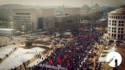 Marcia per la vita 18 01 2019 Washington (screenshot)