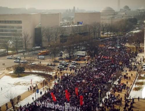 Timelapse della Marcia per la vita del 18 gennaio 2019 a Washington, D.C., USA
