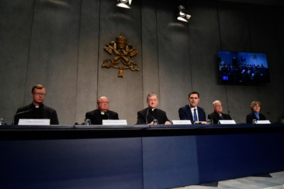 Conferenza stampa su abusi su minori 18 feb 2019 (Foto Siciliani-Gennari/SIR)
