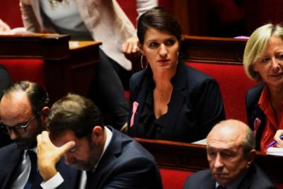 """Marlène Schiappa, Segretario di Stato francese per """"Uguaglianza uomo-donna e contro la discriminazione"""" (BERTRAND GUAY/AFP)"""