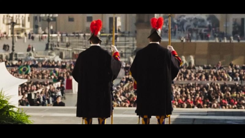 "Screenshot dal filmato: ""Guardie Svizzere Pontificie"""
