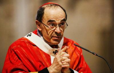 Il cardinale francese Philippe Barbarin, arcivescovo di Lione