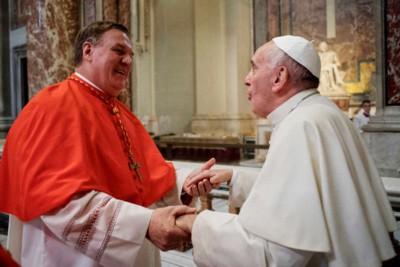 Card. Joseph Tobin e Papa Francesco