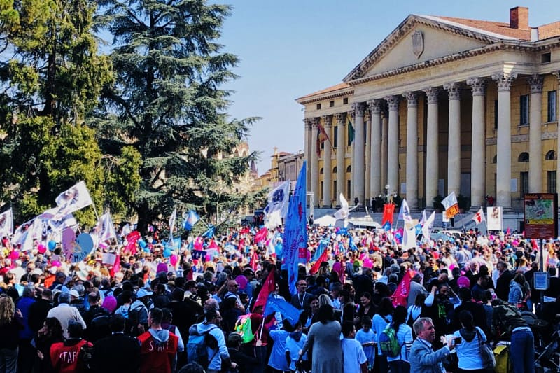 World Congress of Families 2019 a Verona, manifestazinoe conclusiva del 31 marzo