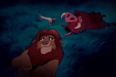 """Scena dal cartone animato """"Il re leone"""""""