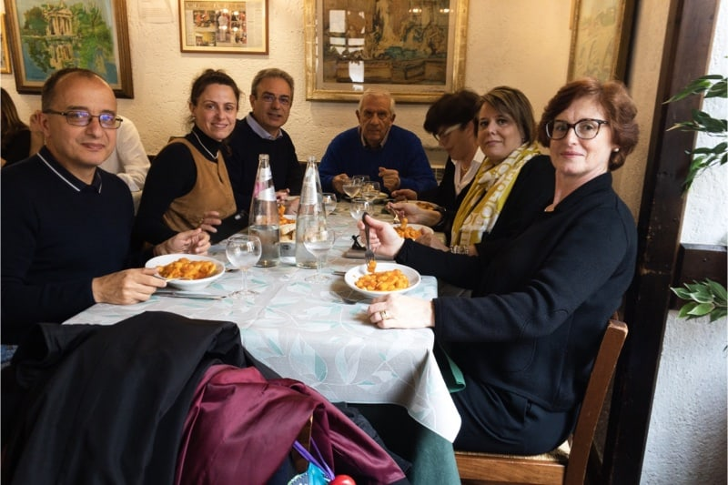 Marcia per la vita, pranzo con amici prima della partenza della Marcia