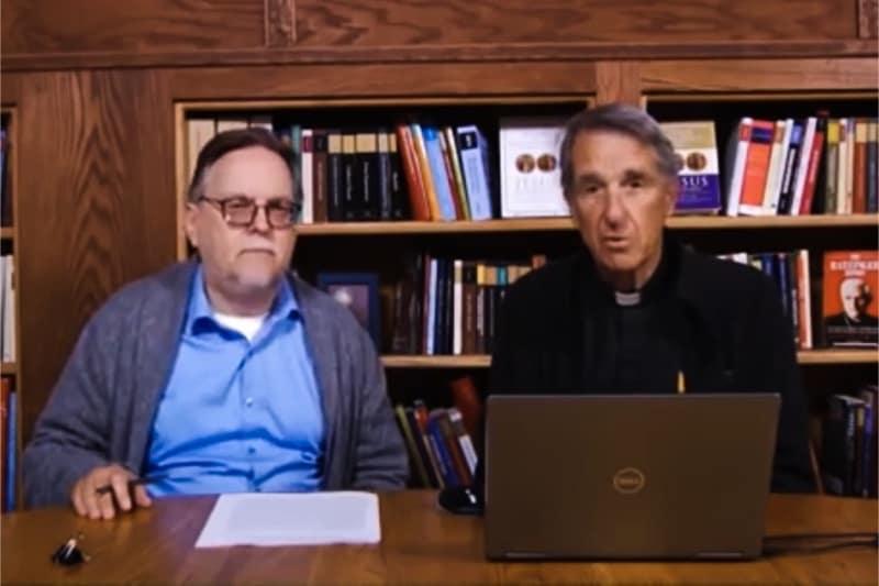 Padre Fessio e Brumley, fondatore e CEO di Ignatius Press, la più importante casa editrice cattolica americana
