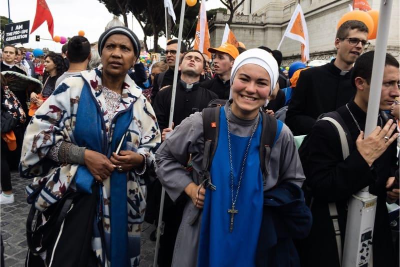Marcia per la vita 2019, Roma, una suora pro life