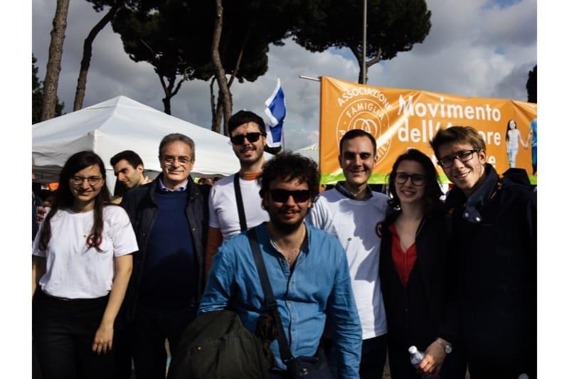 Marcia per la vita 2019, Roma, Universitari per la vita