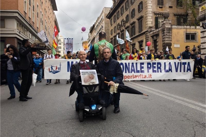 Marcia per la vita 2019, Roma, Luigi Farina insieme a Sabino Paciolla