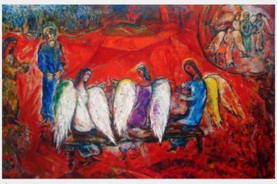 Marc Chagall: Abramo e i tre angeli, Nizza, 1960-66