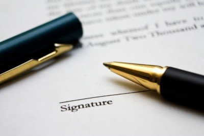 Penna per firmare documento