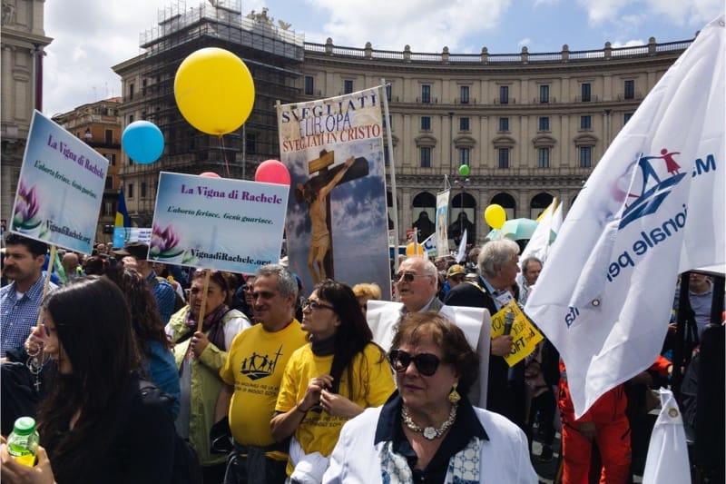 Marcia per la vita 2019, Roma, sostenitori pro life